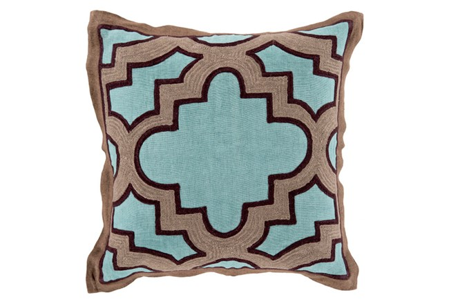 Accent Pillow-Marciano Teal/Black 18X18 - 360