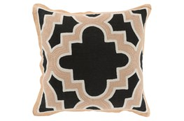 Accent Pillow-Marciano Black/Beige 18X18