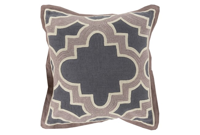 Accent Pillow-Marciano Grey/Taupe 18X18 - 360