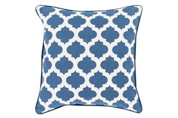 Accent Pillow-Navy Morrocan Tile  18X18