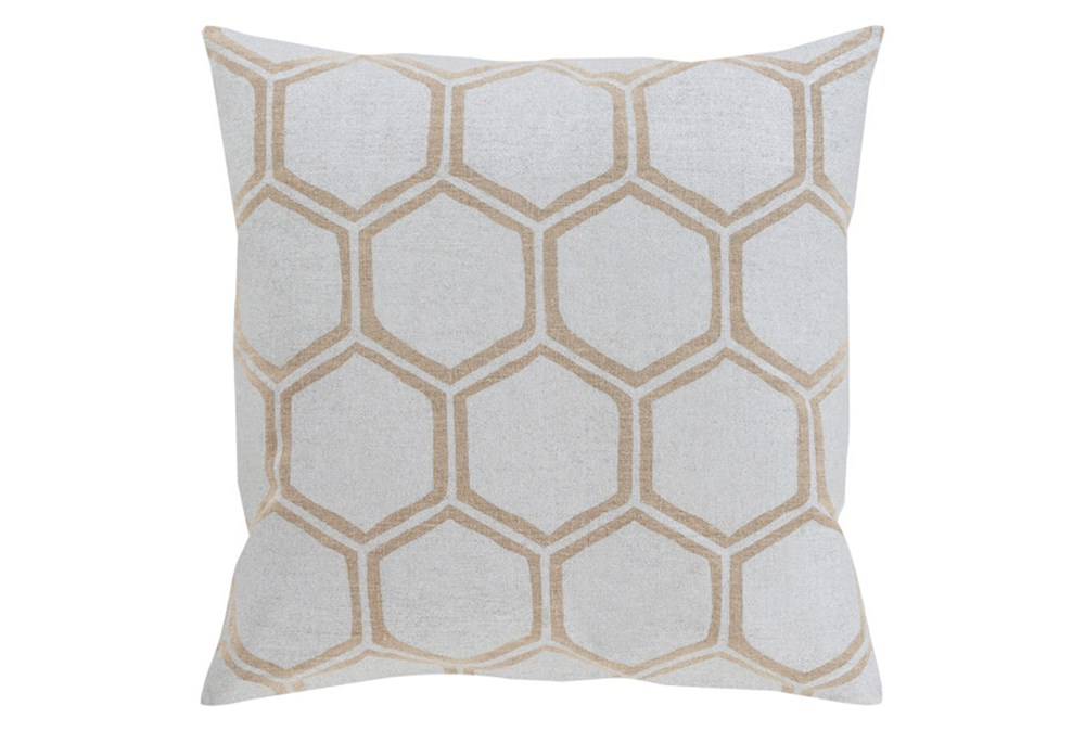 Accent Pillow-Cathryn Honeycomb Light Gold 20X20