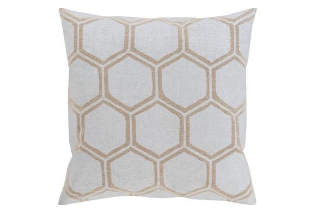 Accent Pillow-Cathryn Honeycomb Light Gold 20X20 - 360