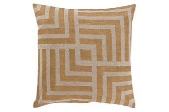 Accent Pillow-Celisse Striped Square Dark Tan 18X18