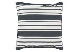 Accent Pillow-Sea Breeze Stripe Black 20X20