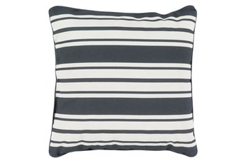 Accent Pillow-Sea Breeze Stripe Black 20X20