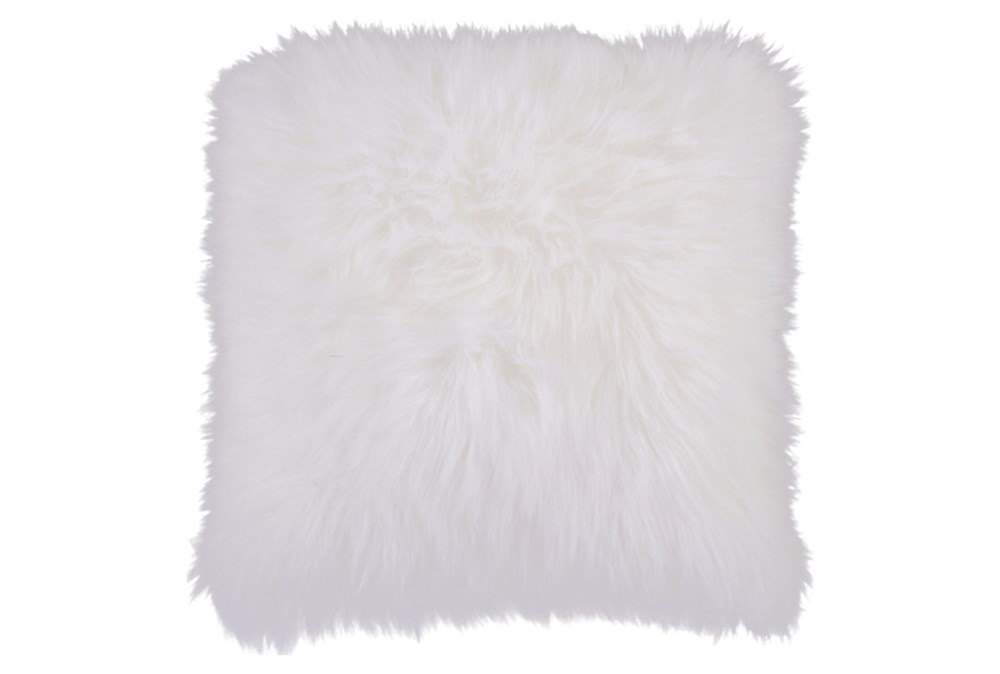 Accent Pillow-Fur Ivory 20X20