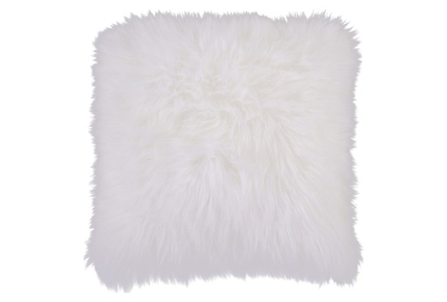Accent Pillow-Fur Ivory 20X20 - 360