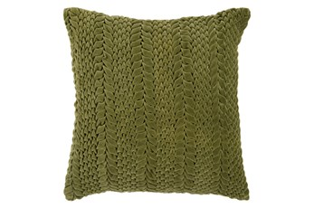 Accent Pillow-Velour Olive 22X22