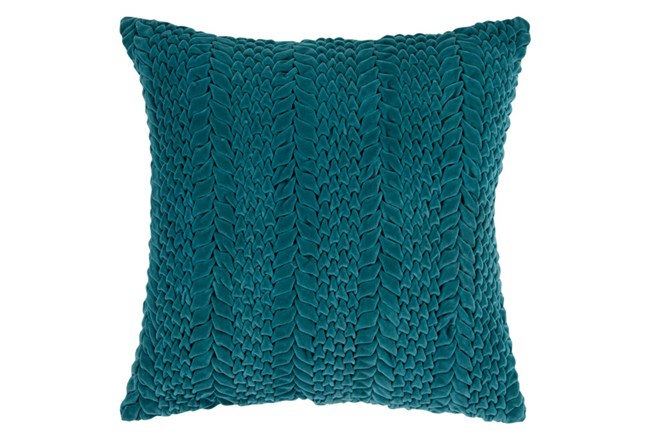 Accent Pillow-Velour Emerald 18X18 - 360