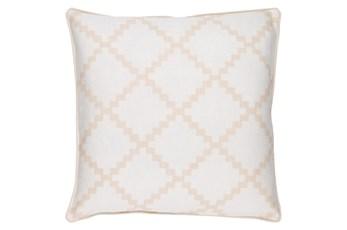 Accent Pillow-Delia Lattice Beige 22X22