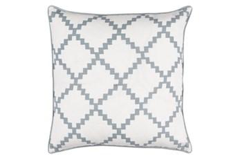 Accent Pillow-Delia Lattice Grey 22X22