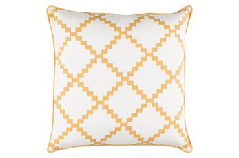Accent Pillow-Delia Lattice Yellow 22X22