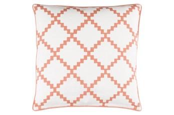 Accent Pillow-Delia Lattice Rust 18X18