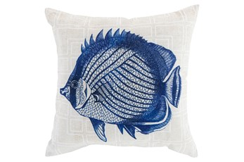 Accent Pillow-Panama Fish Blue 20X20
