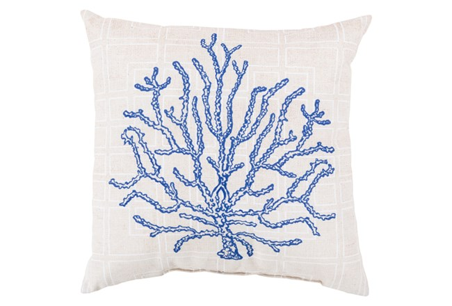 Accent Pillow-Panama Coral Blue 20X20 - 360