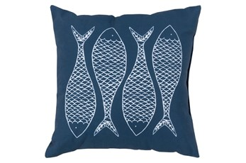 Accent Pillow-Poke Navy 20X20