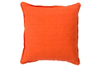 Accent Pillow-Elsa Solid Poppy 18X18