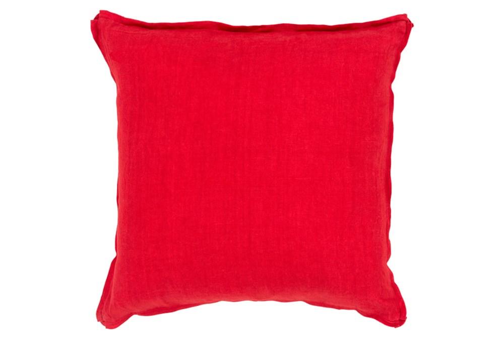 Accent Pillow-Elsa Solid Cherry 22X22