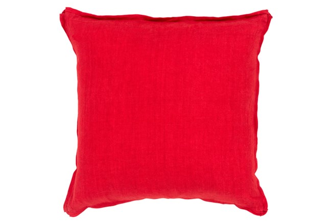 Accent Pillow-Elsa Solid Cherry 22X22 - 360