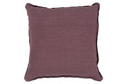 Accent Pillow-Elsa Solid Eggplant 18X18