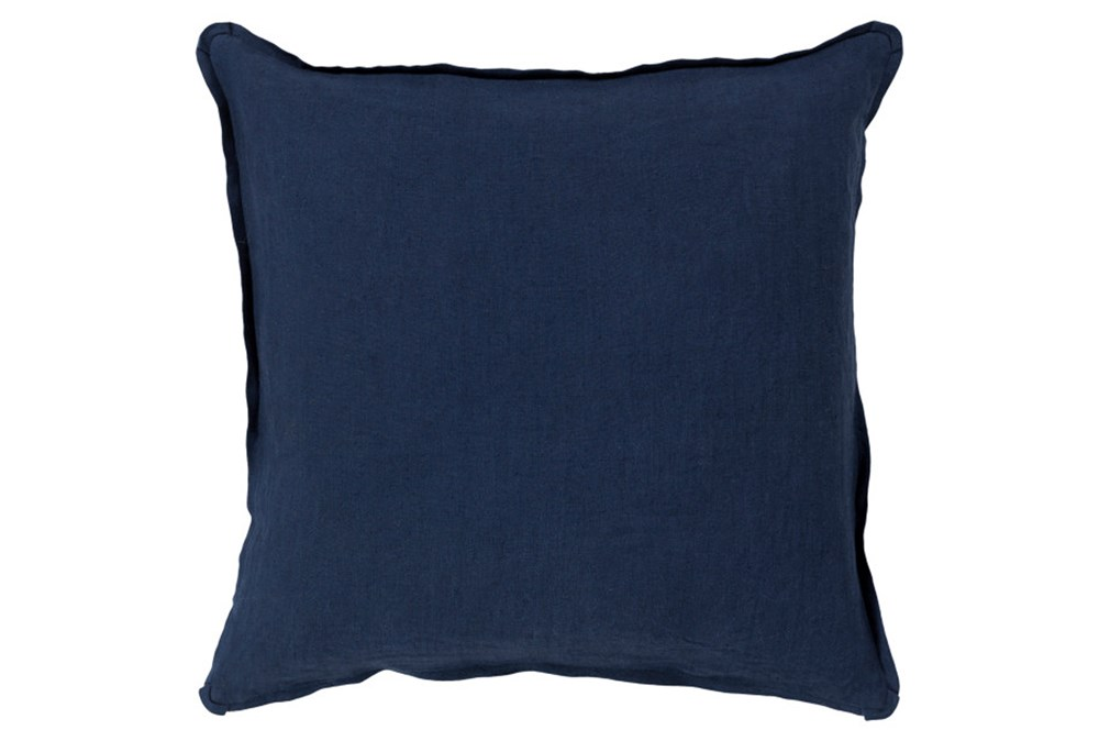 Accent Pillow-Elsa Solid Navy 18X18