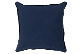Accent Pillow-Elsa Solid Navy 18X18