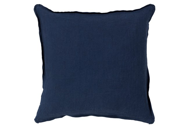 Accent Pillow-Elsa Solid Navy 18X18 - 360