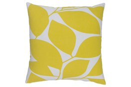 Accent Pillow-Leaflet Lime/Grey 18X18