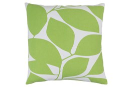 Accent Pillow-Leaflet Lime/Light Grey 18X18