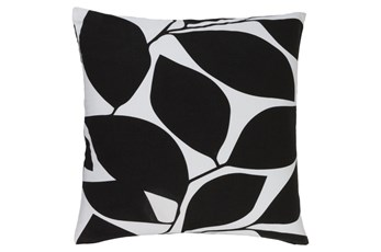 Accent Pillow-Leaflet Black/Light Grey 20X20