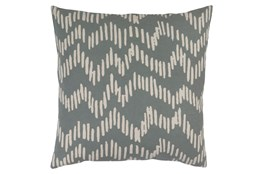 Accent Pillow-Charter Abstract Slate/Beige 18X18