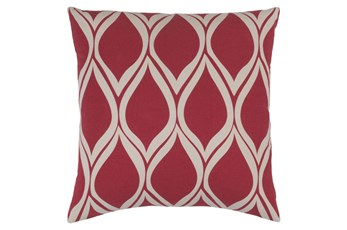 Accent Pillow-Nostalgia Geo Cherry/Grey 20X20