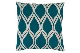 Accent Pillow-Nostalgia Geo Teal/Grey 18X18