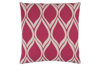 Accent Pillow-Nostalgia Geo Pink/Grey 20X20