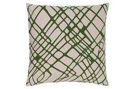 Accent Pillow-Artsy Abstract Olive 18X18