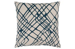 Accent Pillow-Artsy Abstract Navy 18X18