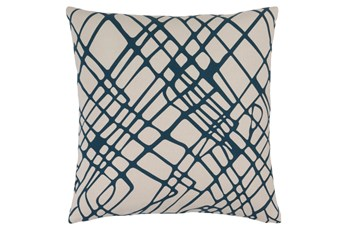Accent Pillow-Artsy Abstracy Navy 20X20
