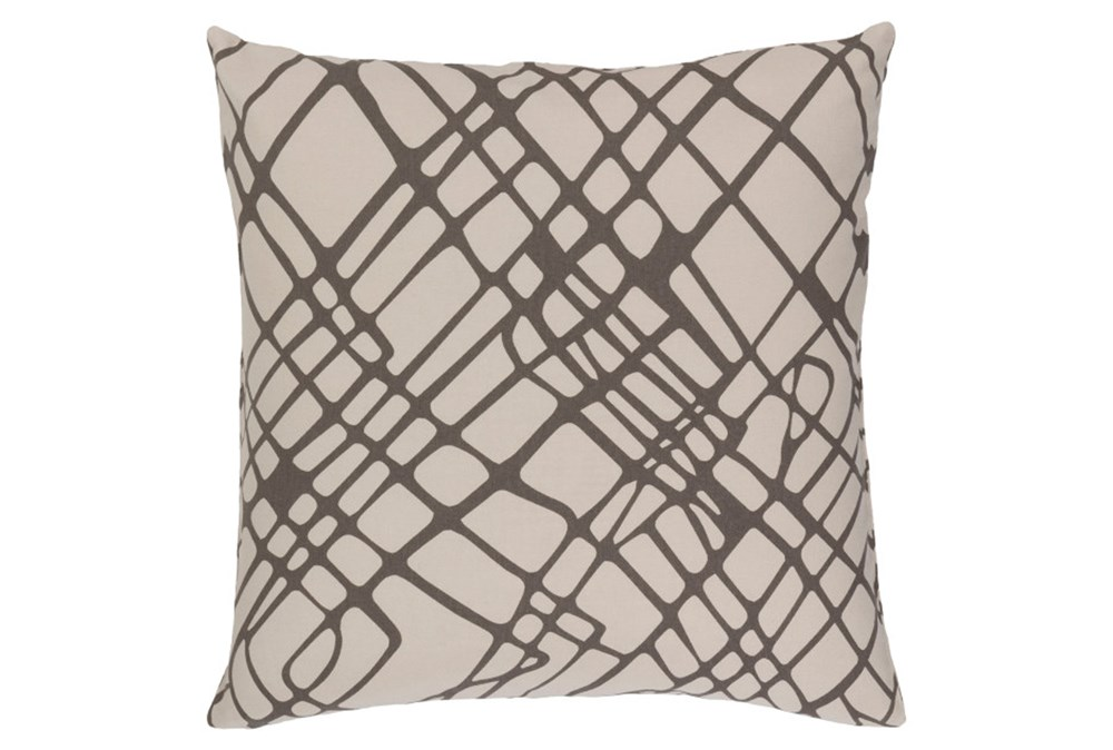 Accent Pillow-Artsy Abstract Grey 18X18