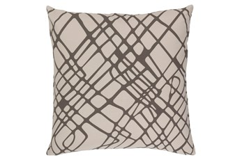 Accent Pillow-Artsy Abstract Grey 20X20