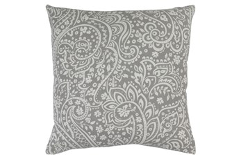 Accent Pillow-Paisley Grey/Ivory 20X20