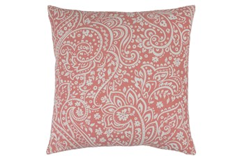 Accent Pillow-Paisley Coral/Ivory 18X18