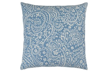 Accent Pillow-Paisley Slate/Ivory 18X18