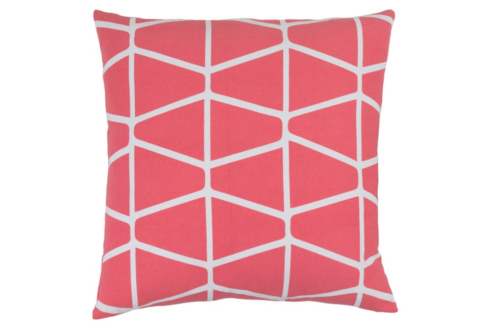 Accent Pillow-Stemsly Geo Pink/Ivory 18X18