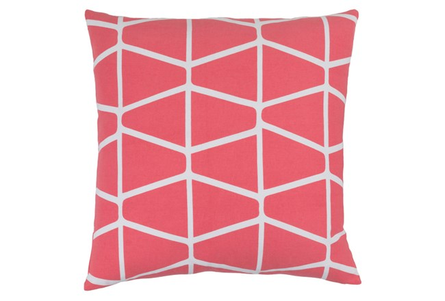 Accent Pillow-Stemsly Geo Pink/Ivory 18X18 - 360