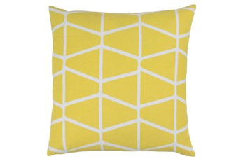 Accent Pillow-Stemsly Geo Lime/Ivory 18X18