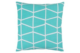 Accent Pillow-Stemsly Geo Aqua/Ivory 18X18