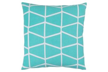 Accent Pillow-Stemsly Geo Aqua/Ivory 18X18