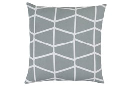 Accent Pillow-Stemsly Geo Light Grey/Ivory 20X20