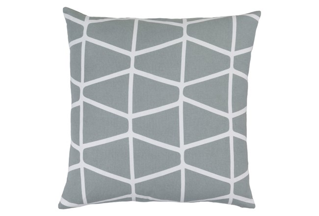 Accent Pillow-Stemsly Geo Light Grey/Ivory 20X20 - 360
