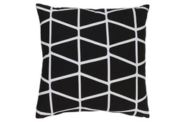 Accent Pillow-Stemsly Geo Black/Ivory 18X18